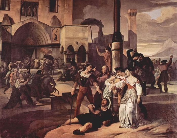 Sicilian Vespers scene 1 (1821–22)