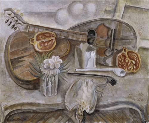 1922Pedestal Table in the Studio
