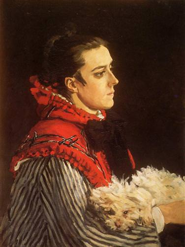 Camille with a Small Dog1866