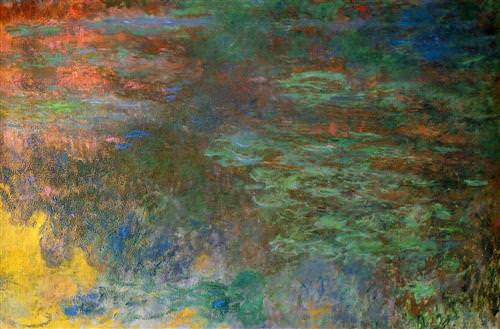 Water Lily Pond, Evening (right panel)1936