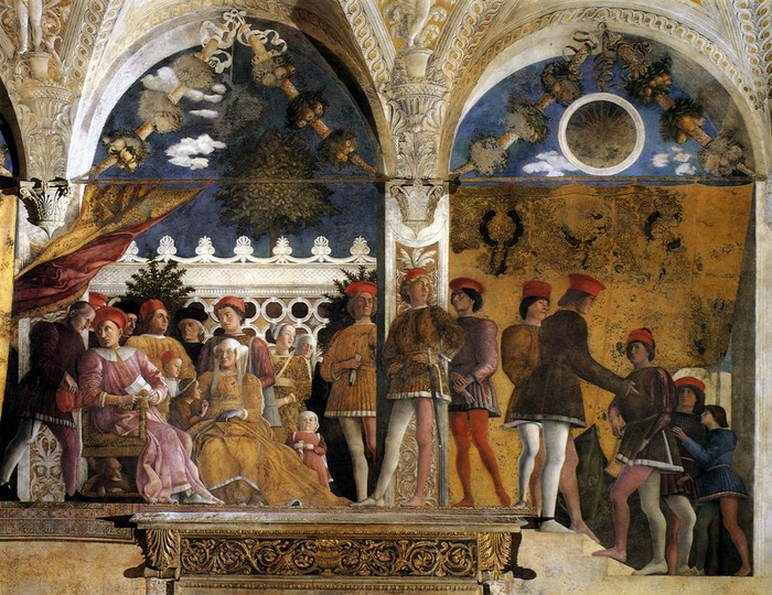 Andrea Mantegna, The Court of the Gonzagas, Mantua, 1471-74