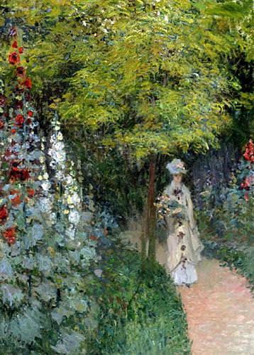 The Garden, Hollyhocks1877