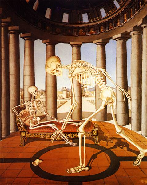 1944 The skeleton has the shell