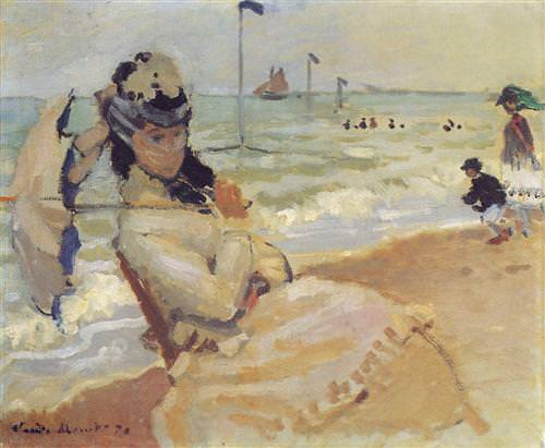 Camille on the Beach at Trouville1870