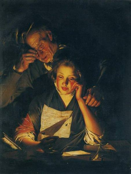 A Girl reading a Letter