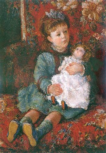 Portrait of Germaine Hoschede with a Doll1877