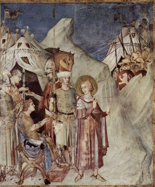 (fresco by Simone Martini) in the San Martino Chapel.