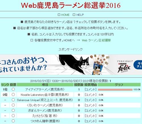 鹿児島ラーメン総選挙2016