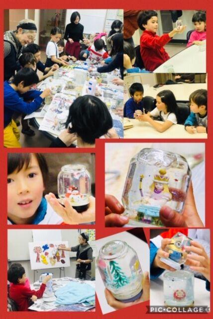 【koko kids】 12/7(土)「スノードーム」を作りました!!