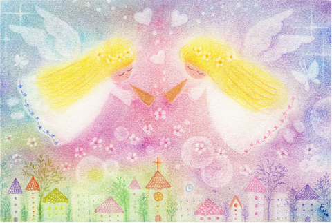 ゆるカワ天使画001