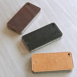 iPhone4専用本革保護シート 3色