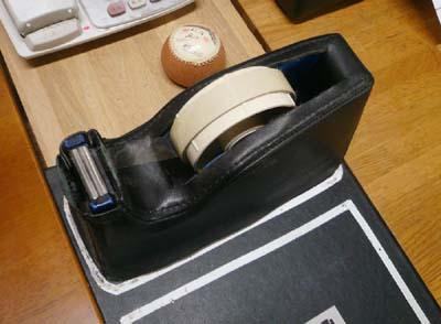 テープカッター 革張り