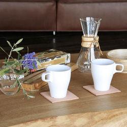 ヌメ革コースター と 朝食