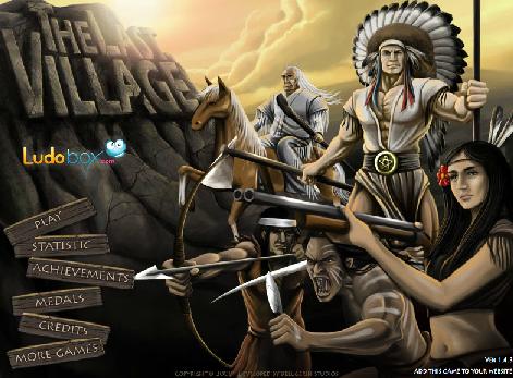 インディアンの村を開拓防衛シミュレーション