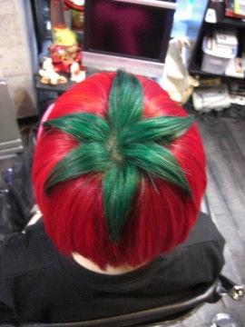 完熟トマト頭頂部