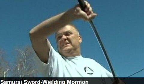 モルモン教徒と日本刀