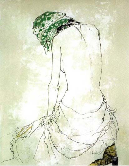 緑色のスカーフ