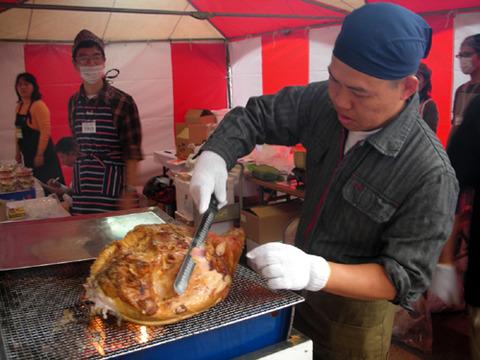 おはら祭り前夜祭黒豚焼き1