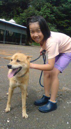 次女と農場番犬レオ