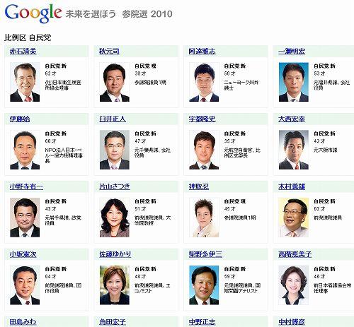 google参院選9s