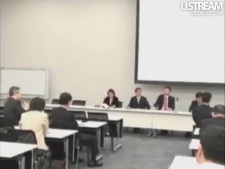 民主党「情報通信議員連盟」総会でのSB孫正義社長講演119