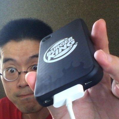 BKオリジナルiPhone4ケースを装着したところ 20120702_6