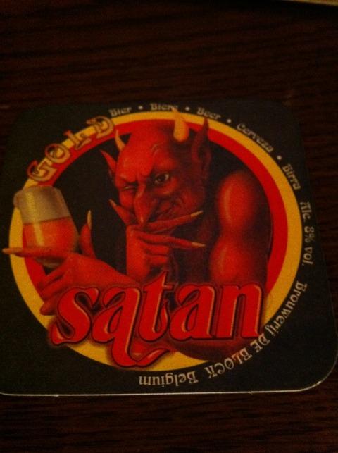 サタンビールのコースター