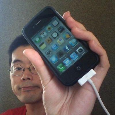 BKオリジナルiPhone4ケースを装着したところ 20120702_3