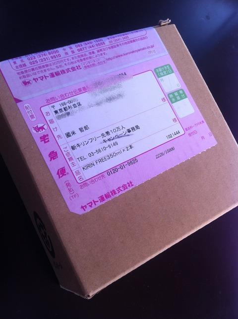 キリンフリーが送られてきた箱