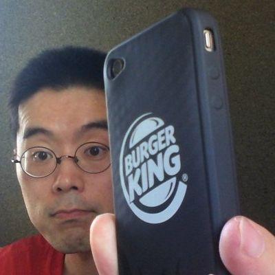BKオリジナルiPhone4ケースを装着したところ 20120702_4