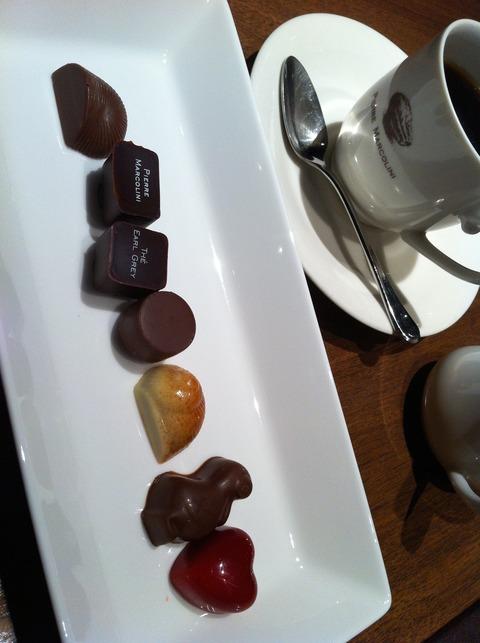 ピエール・マルコリーニ10 ドリンクと7種類のチョコレート