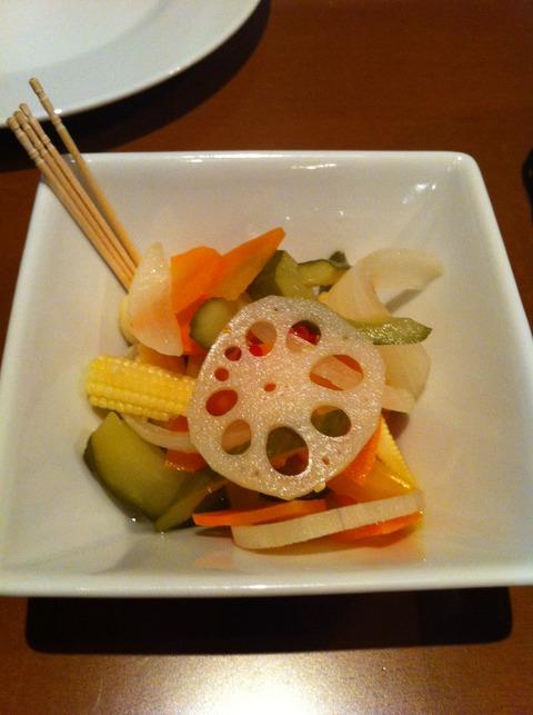 アゲマキ2 付け出し 自家製野菜のピクルス