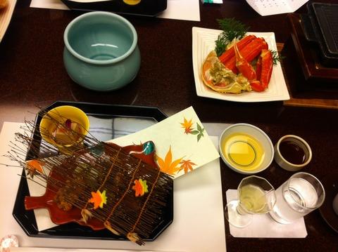 西村屋ホテル招月庭 晩ご飯は部屋食 食前酒ほか