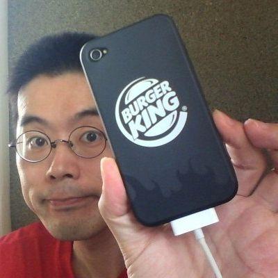 BKオリジナルiPhone4ケースを装着したところ 20120702_1