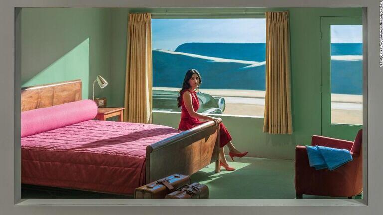 絵画に描かれたホテルを再現、宿泊も可能 米美術館が企画展