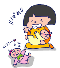 双子を授かっちゃいましたヨ☆-0529授乳中02