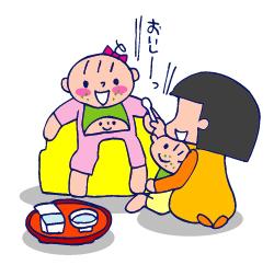 双子を授かっちゃいましたヨ☆-0705離乳食01