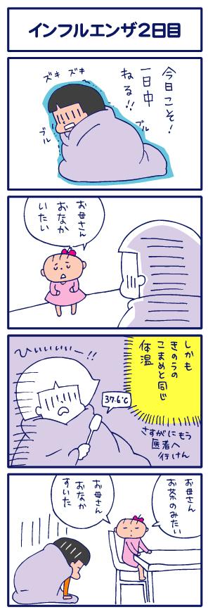 【4コマ】インフルエンザ2日目