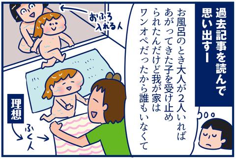 【4コマ】あの頃のお風呂。