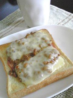 納豆トースト~チーズ編~