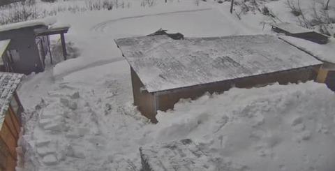 20210109屋根の雪下ろし