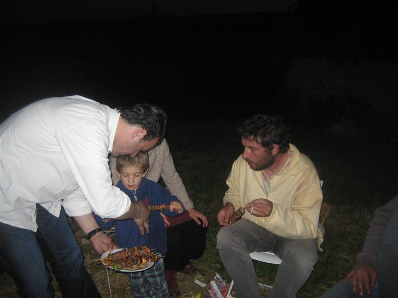 ジャン・マルク・ブリニョ氏と息子のガスパール君