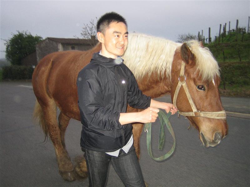 馬をひく島田さん