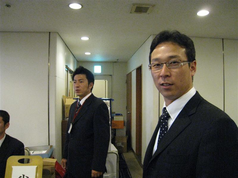 応援団部の齊藤と中村