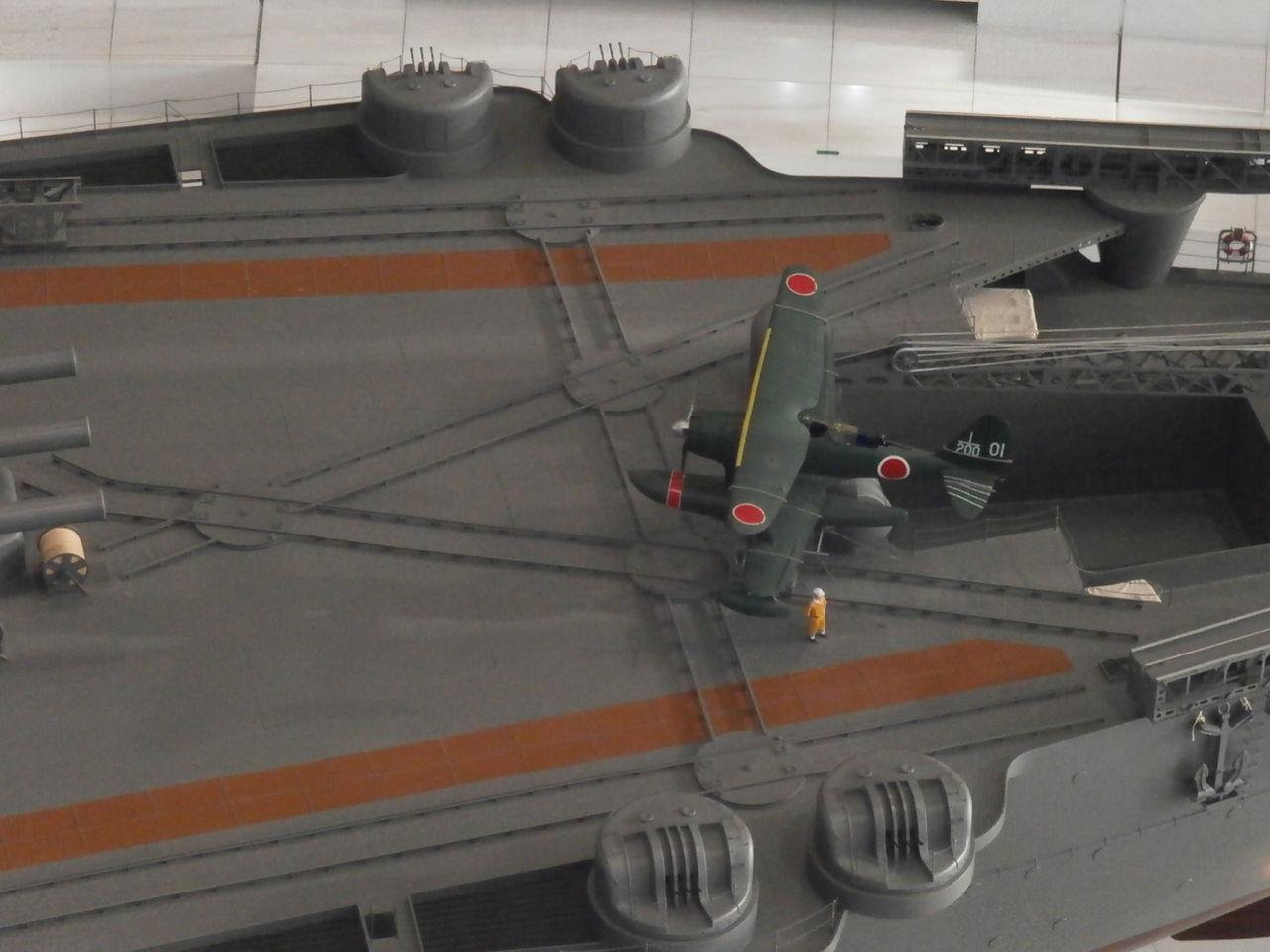 大和飛行甲板