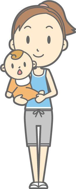 産後ヨガの親子