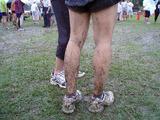 白馬クロカン、走り終わった人の脚