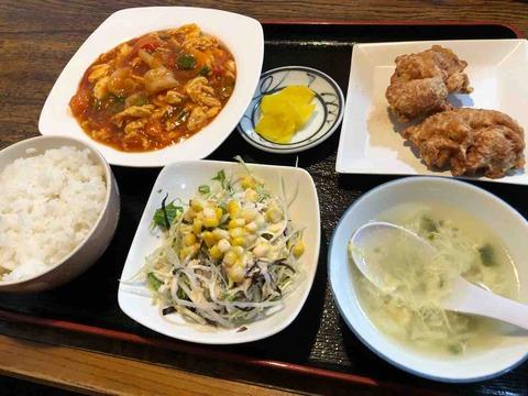 『街の中華定食屋 パンダ』「エビ入りトマトと玉子炒め」