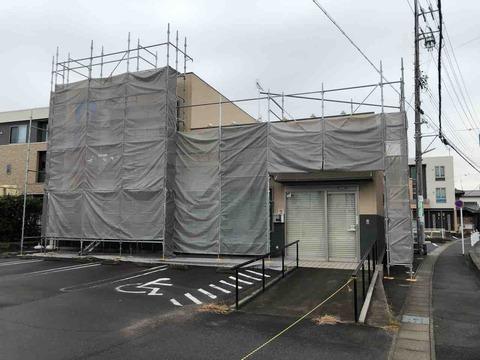 江南厚生病院の隣りの薬局だったところが閉店して空き店舗だったところ改装工事