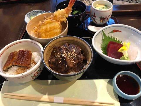 『尾関屋』三色ミニ丼定食